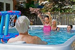 Family fun pool menu