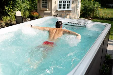 Hydropool executive swim spa